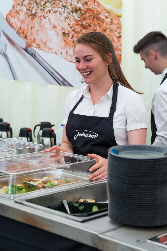 Service with a Smile at Southport Flower Show - Jenkinsons Caterers