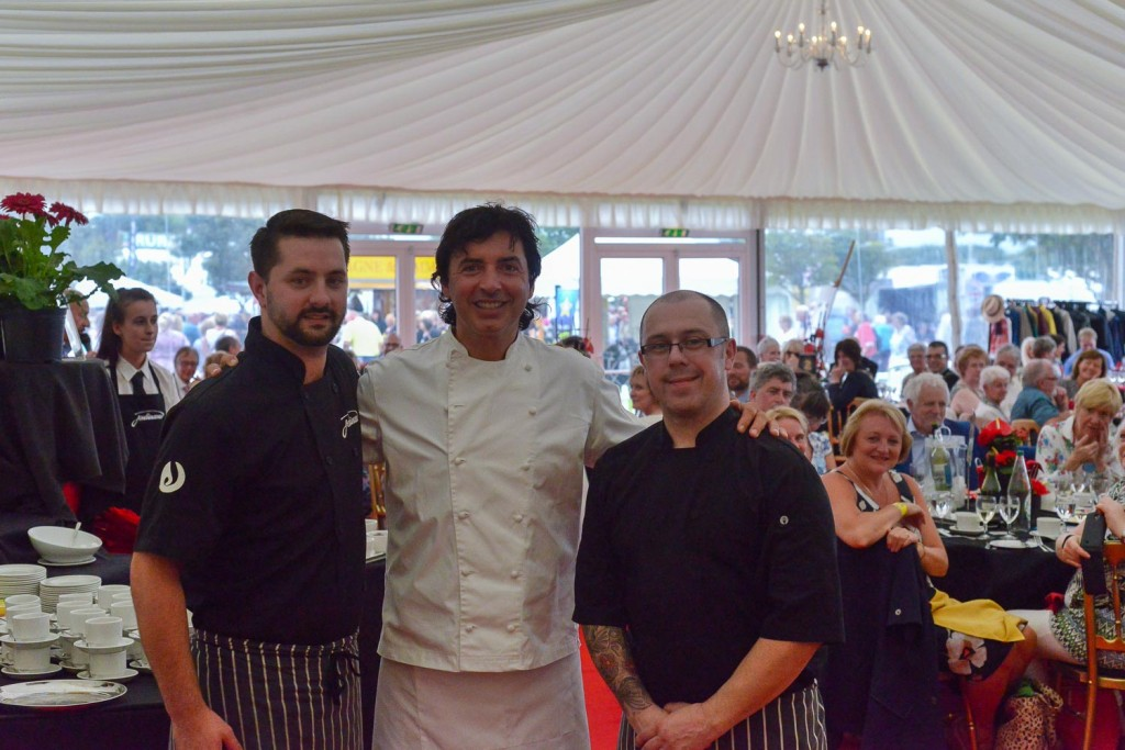 Jean-Christophe Novelli at the Southport Flower Show with Jenkinsons Caterers